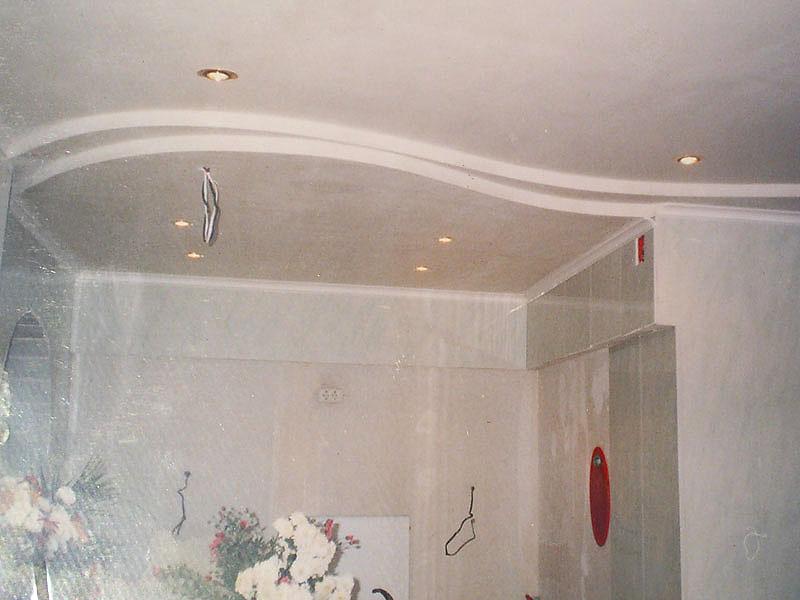 Двухуровневые потолки для кухни из гипсокартона своими руками 561